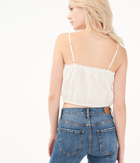 Lacy Cropped Cami