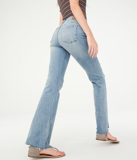 High-Waisted Cheeky Flare Jean