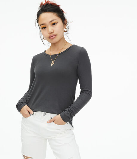 Long Sleeve Seriously Soft Ribbed Crew Tee