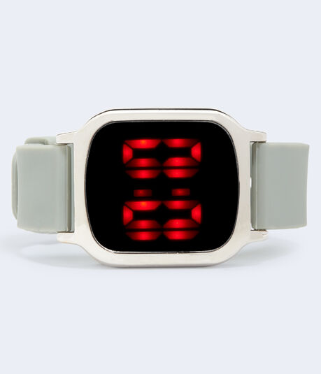 Rectangular Rubber Digital Watch