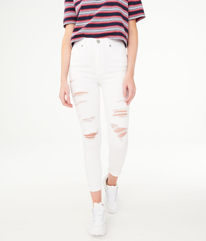 Seriously Stretchy Super High Rise Crop Jegging by Aeropostale