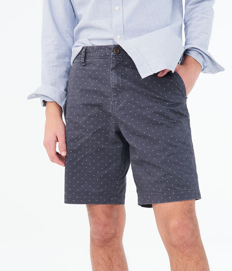 "Triangle Dot Stretch 9.5"" Chino Shorts***"