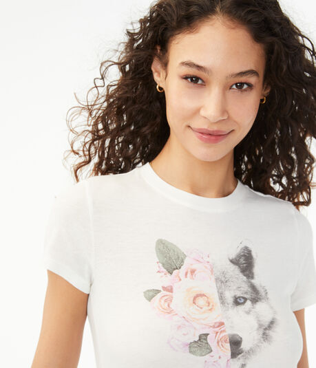 Rose Wolf Graphic Tee