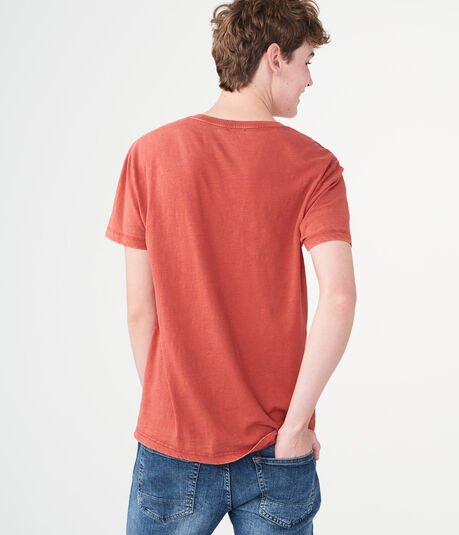 Solid Washed Slub Pocket Tee