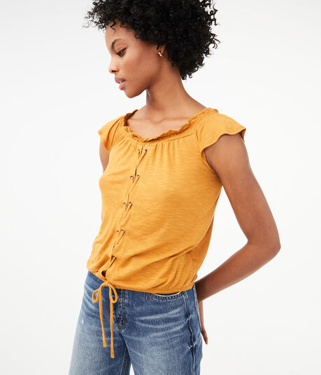 Seriously Soft Smocked Peasant Top