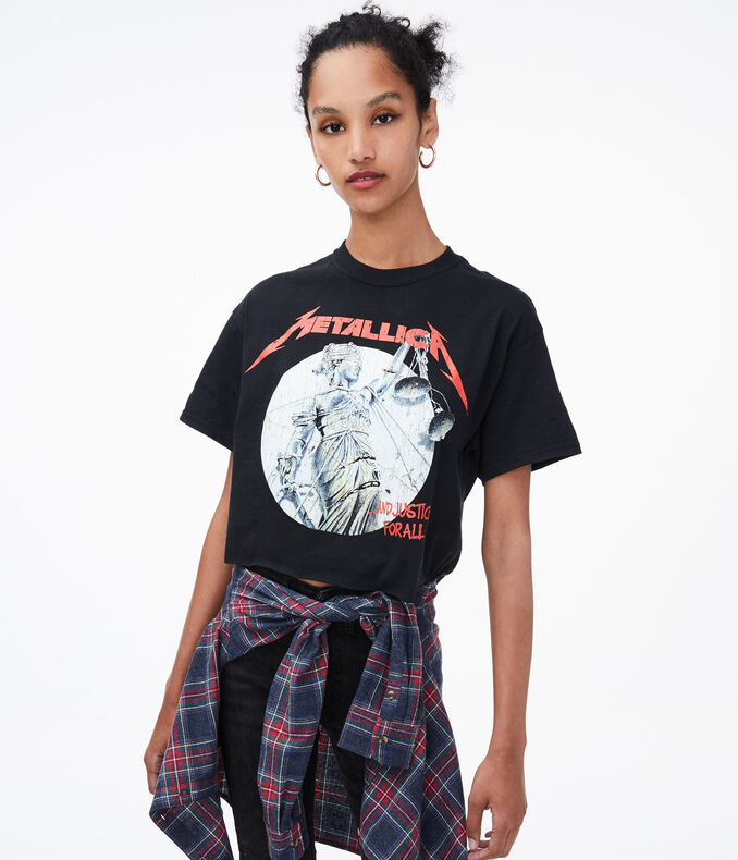 And Justice For All Metallica Cropped Graphic Tee