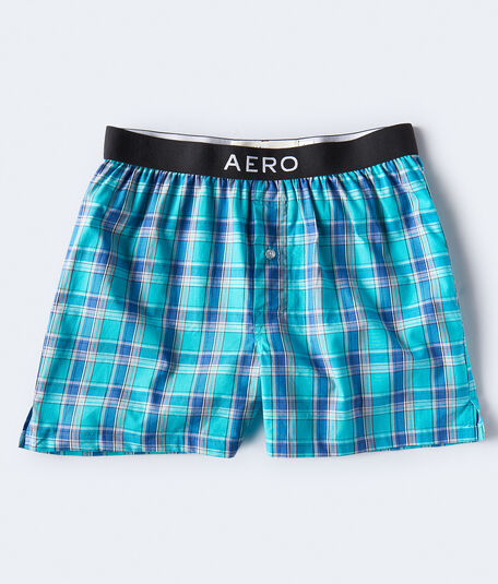 Cool Plaid Woven Boxers