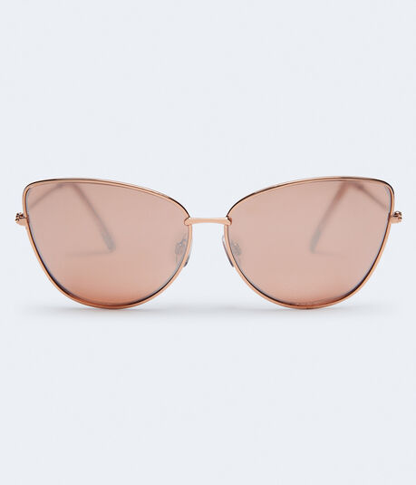 Tonal Mirrored Cateye Sunglasses***