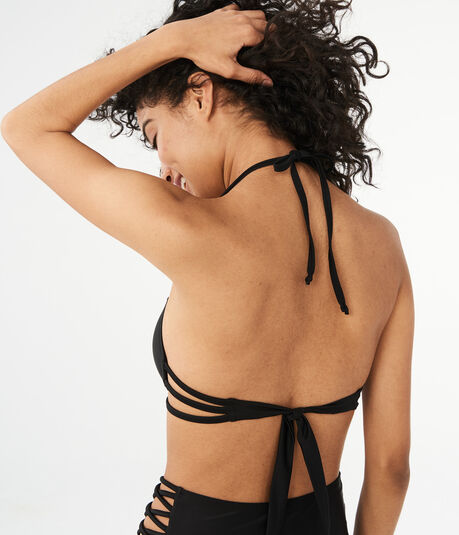 LLD Strappy Push-Up Halter Bikini Top