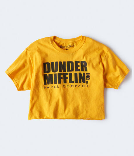 The Office Dunder Mifflin Cropped Graphic Tee