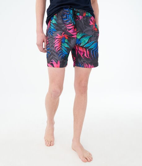 "Electric Leaf 6"" Swim Shorts"