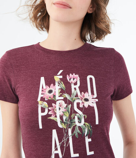 Floral Stacked Aeropostale Graphic Tee
