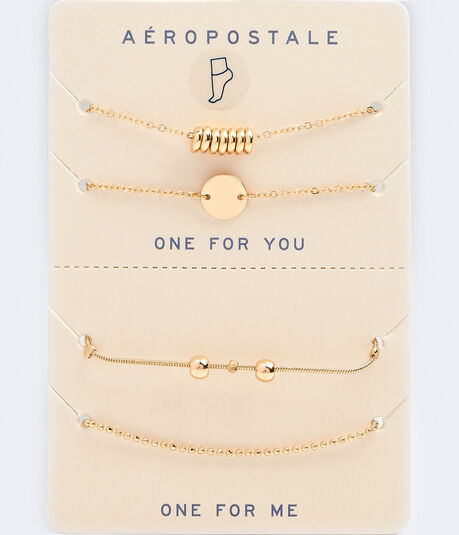 Best Friends Ring & Ball Anklet Set