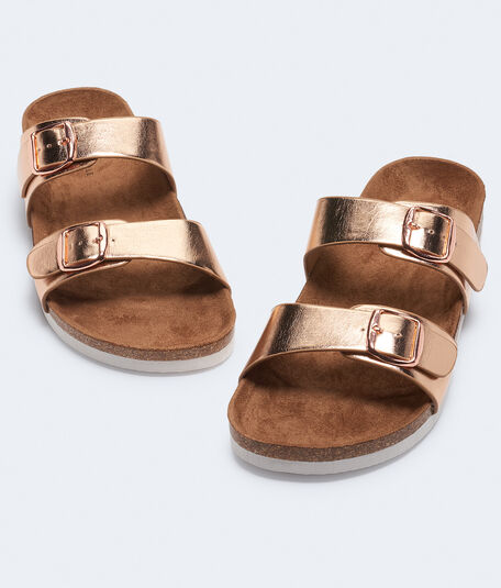 Double-Strap Cork Sandal