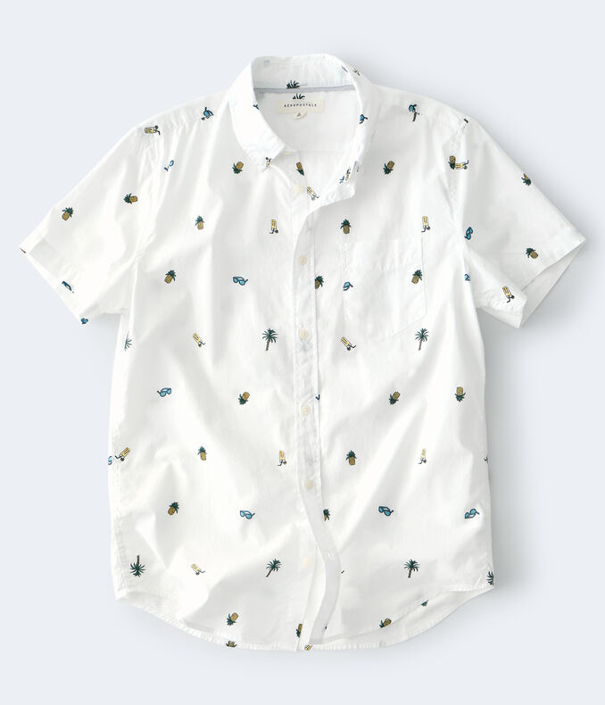 Tropical Vacation Button-Down Shirt