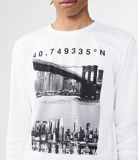 Long Sleeve Brooklyn Bridge Graphic Tee