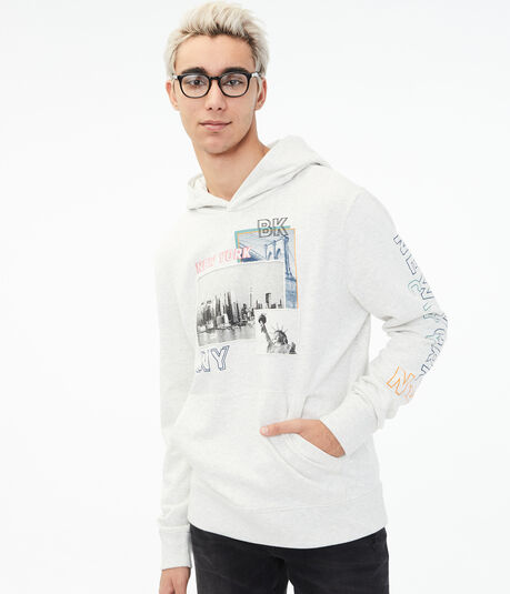 New York City Patch Pullover Hoodie