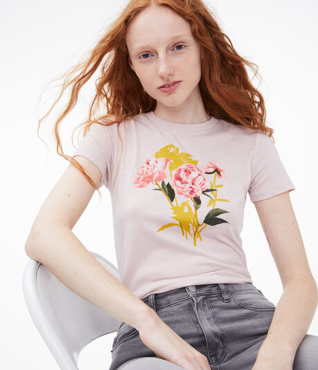 Pretty Peonies Graphic Tee