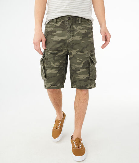 Camo Stretch Cargo Shorts