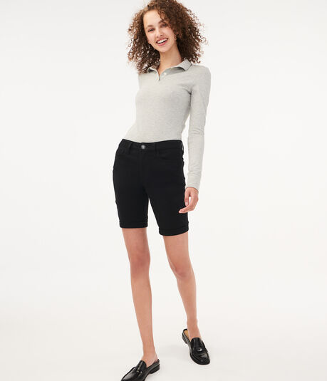 Five-Pocket Uniform Bermuda Shorts