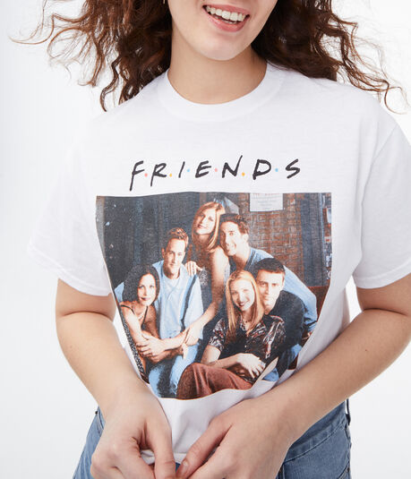 Friends Characters Cropped Graphic Tee