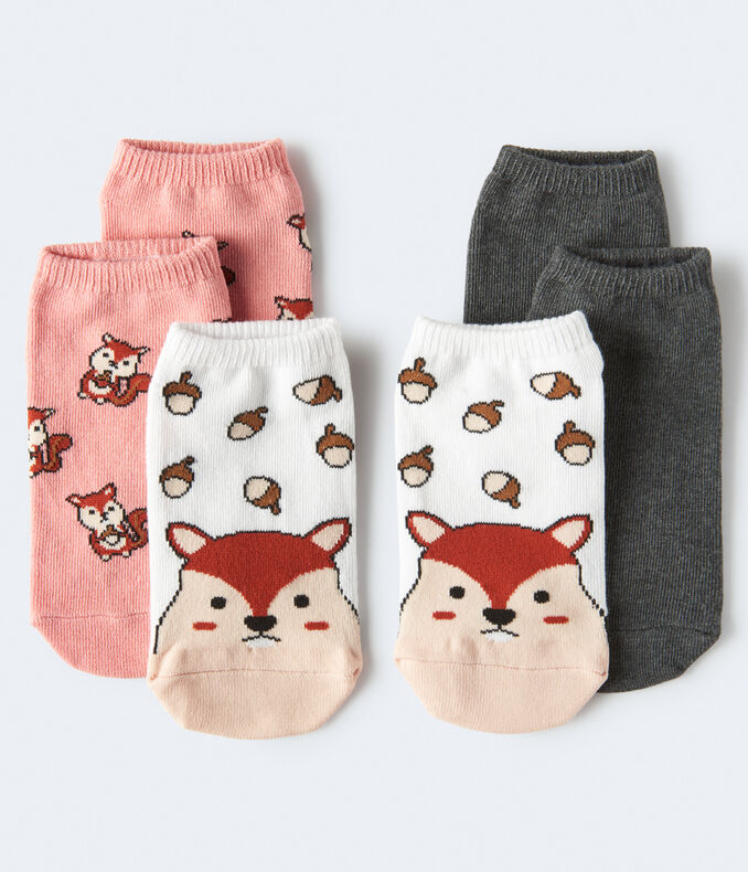 Squirrels Ankle Sock 3-Pack***