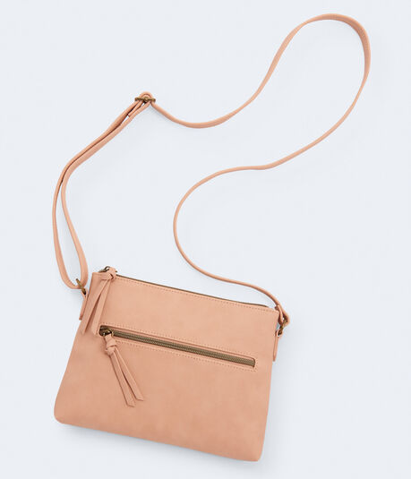 Top-Zip Crossbody Bag