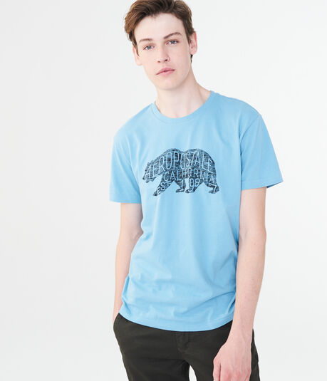 Aeropostale Heathered Bear Graphic Tee