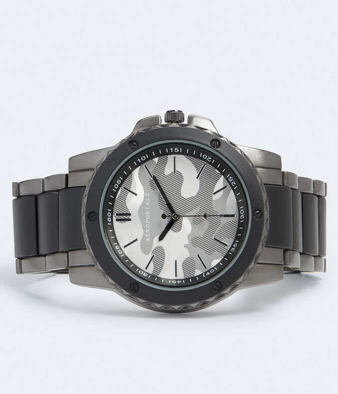 Metal Camo Chrono Analog Watch