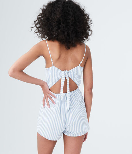 Striped Tie-Back Romper