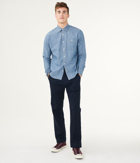Solid Relaxed Stretch Twill Chino