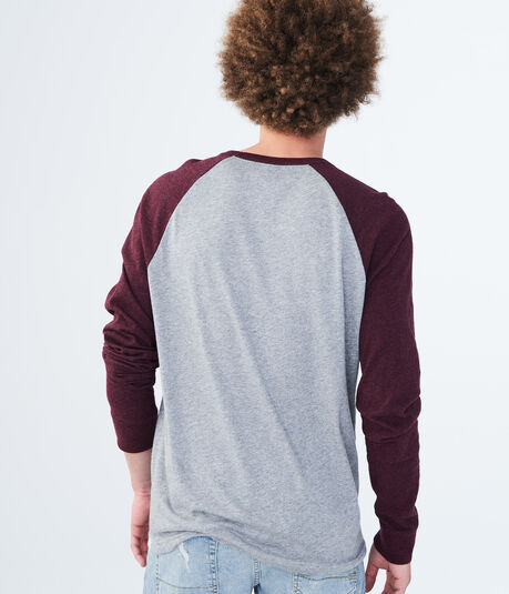 Long Sleeve Raglan Baseball Tee
