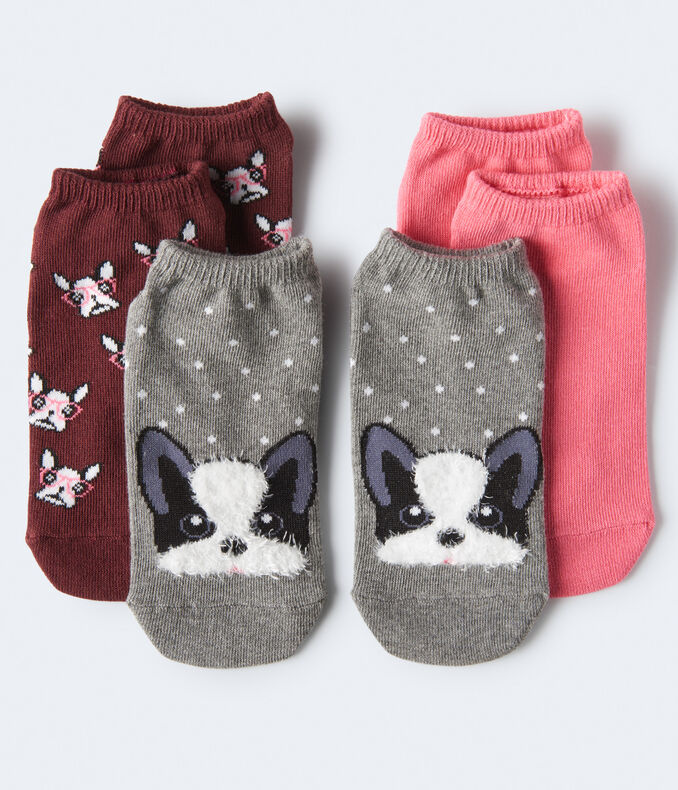 French Bulldog Ankle Sock 3-Pack