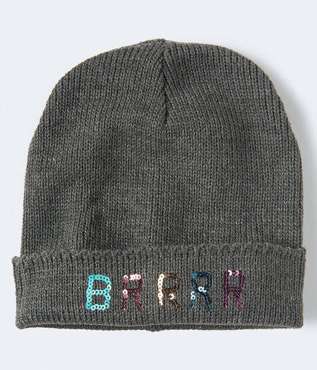 Sequined Brrrr Beanie