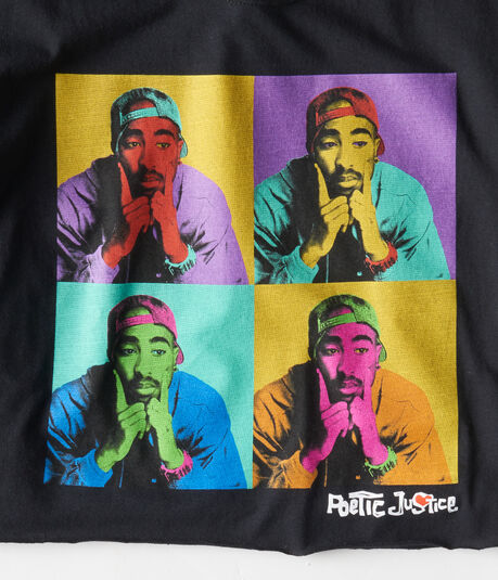 Poetic Justice Tupac Cropped Graphic Tee