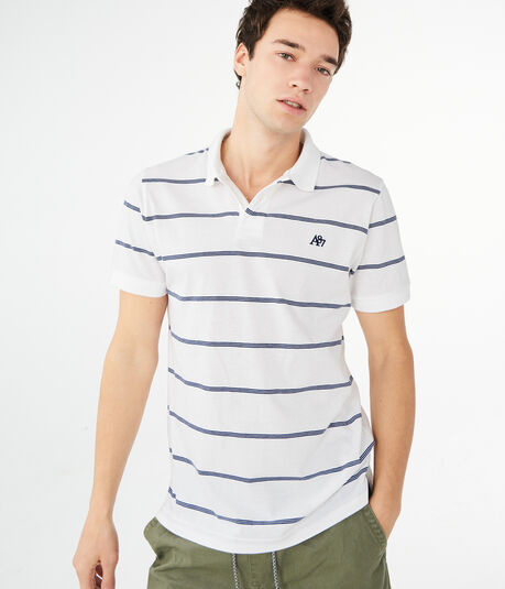 Thin Stripe Jersey Polo