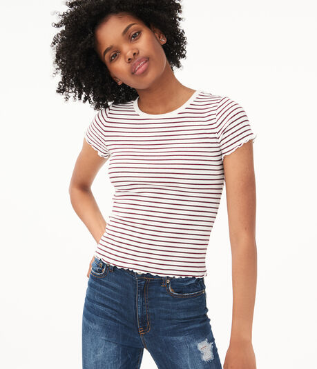Striped Shrunken Tee