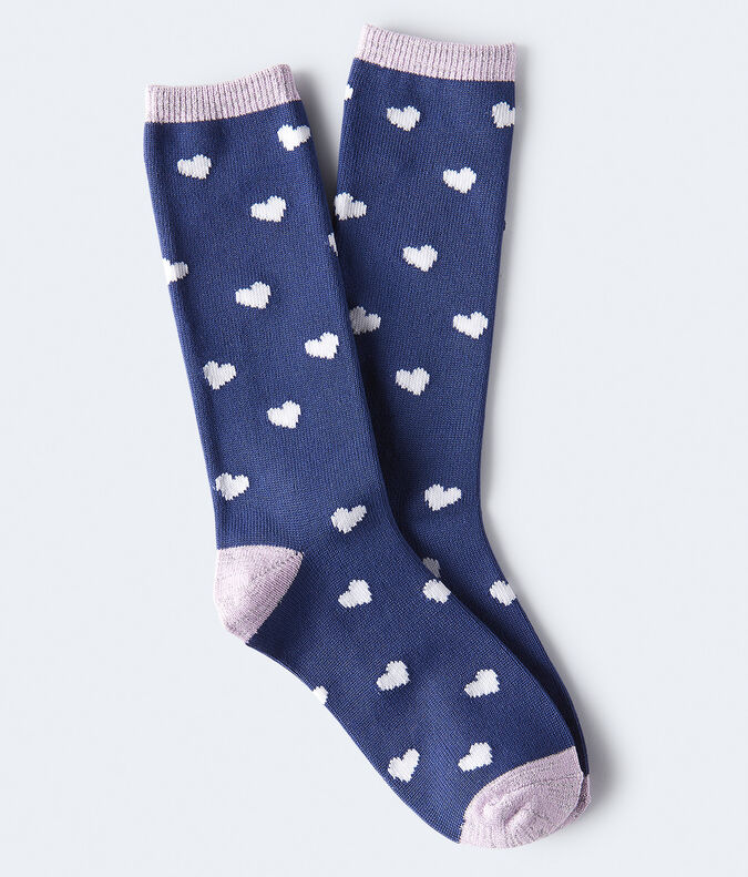 Seriously Soft Heart Boot Socks***