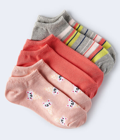 Kitty Cones Ankle Sock 3-Pack