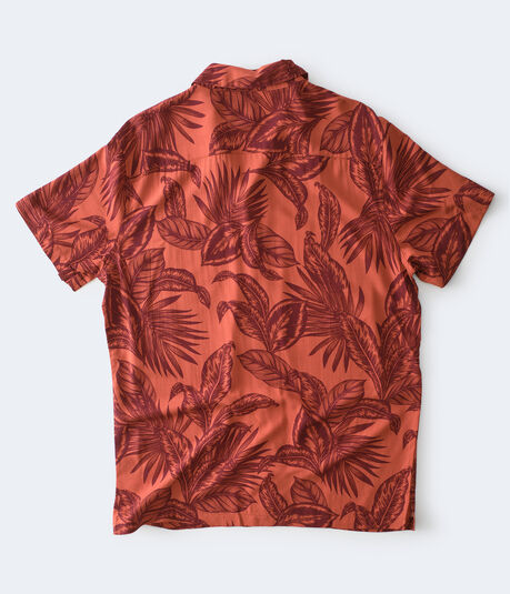 Tropical Palms Button-Down Resort Shirt