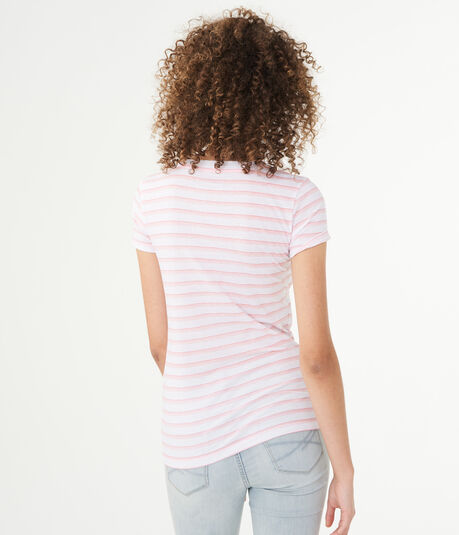 Striped Aeropostale Graphic Tee
