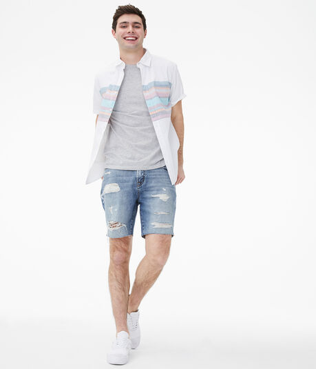 "Real Denim Loose 7.5"" Cutoff Shorts"