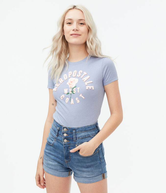 Arched Aeropostale Rose Graphic Tee