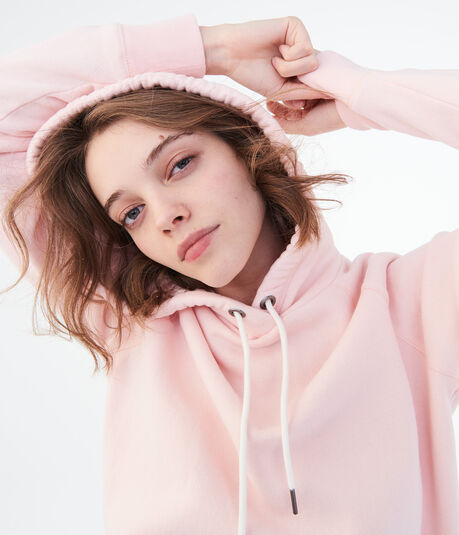 Solid Pullover Hoodie