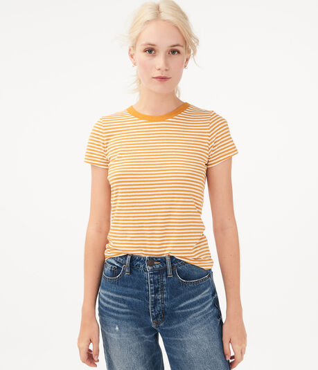 '90s Slim Kate Thin Stripe Crew Tee