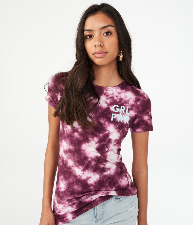 Free State Grl Pwr Tie-Dye Graphic Tee