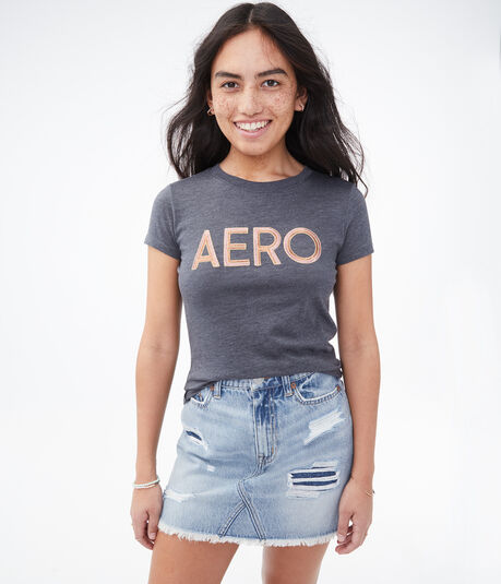 Embroidered Aero Logo Graphic Tee