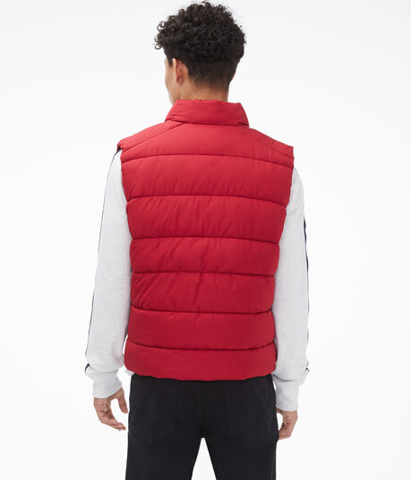 Colorblocked Quilted Vest