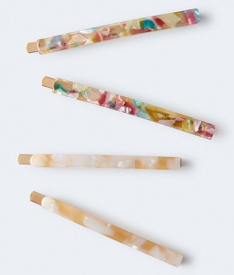 Marbleized Hair Slide 4-Pack