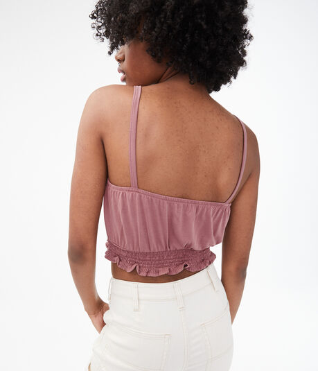 Seriously Soft Lace-Up Crop Tank